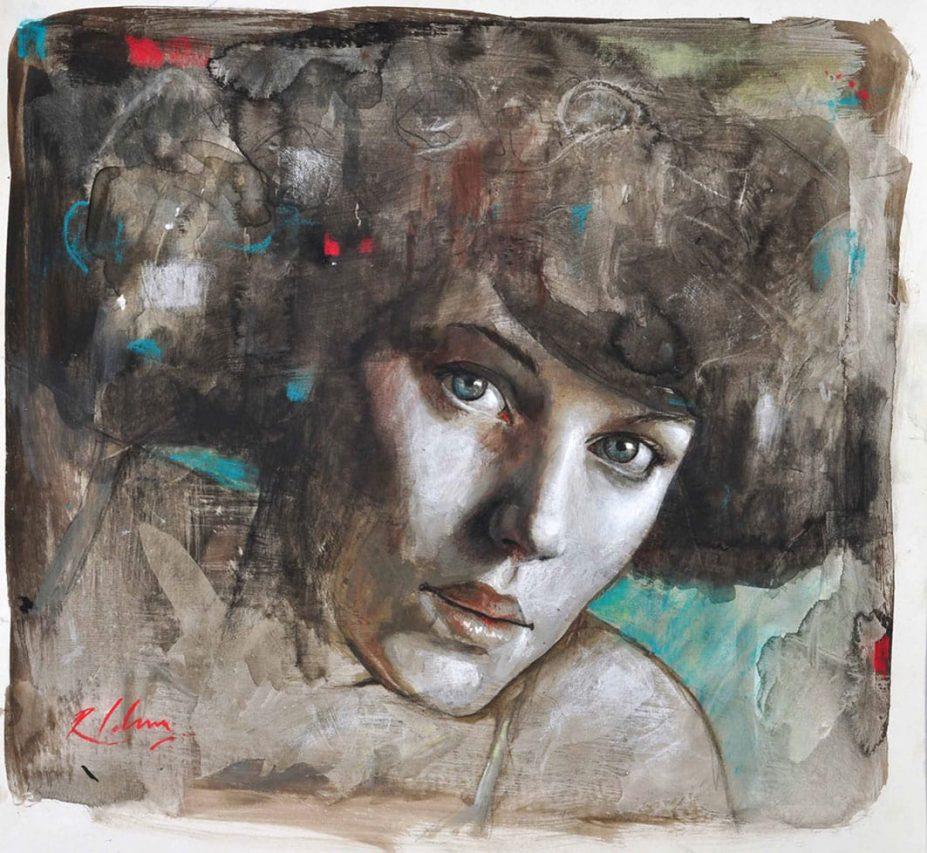 Mujer Nouveau II . pastel tiza sobre papel . 30 x 40 cm . 2012