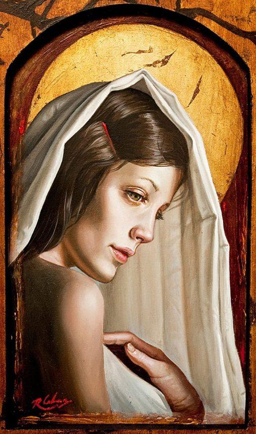 Virgen del Alba . óleo sobre madera . 40 x 30 cm . 2012