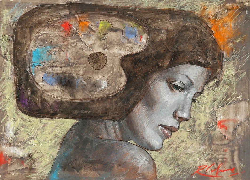 Colores Verdaderos . pastel sobre papel . 35 x 48 cm . 2012