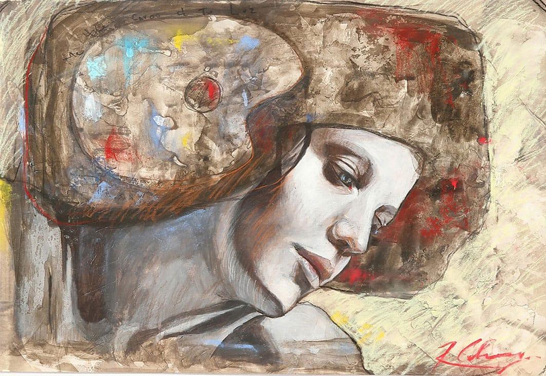 Me hice cargo de tu Luz . pastel sobre papel . 35 x 50 cm . 2012