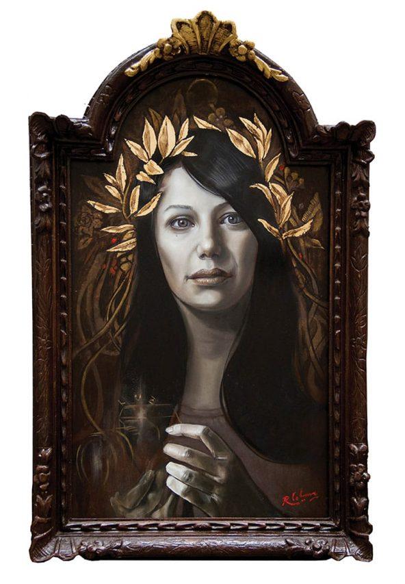 Luz de Gracia . óleo sobre madera . 47 x 28 cm . 2015