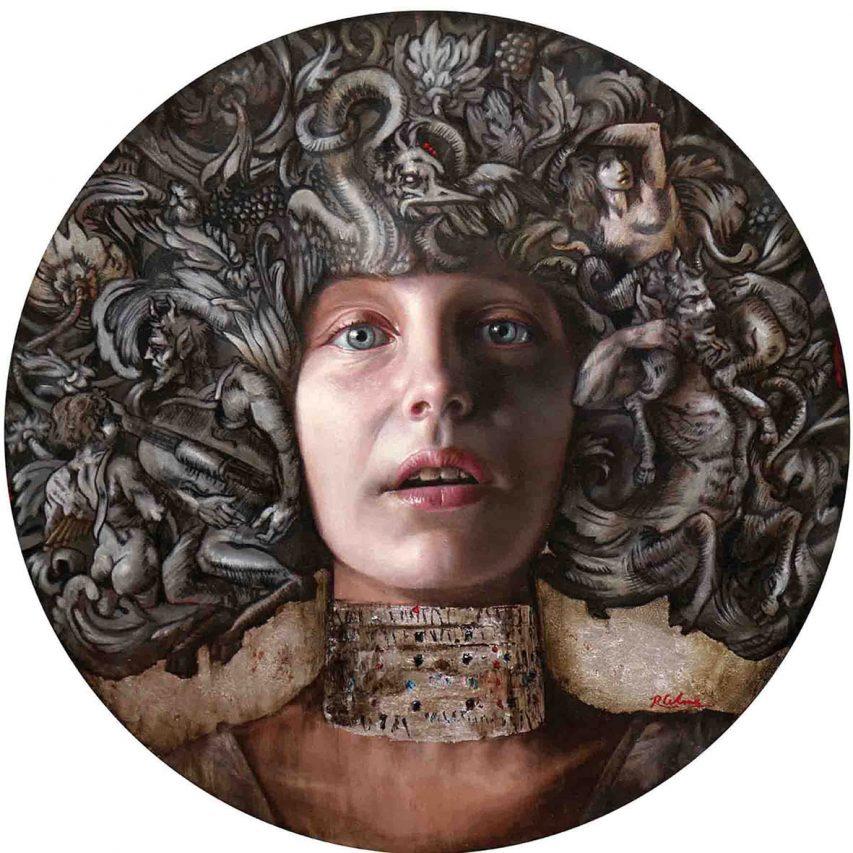 El Diario de Eva IV . óleo sobre lienzo . 50 x 50 cm . 2017