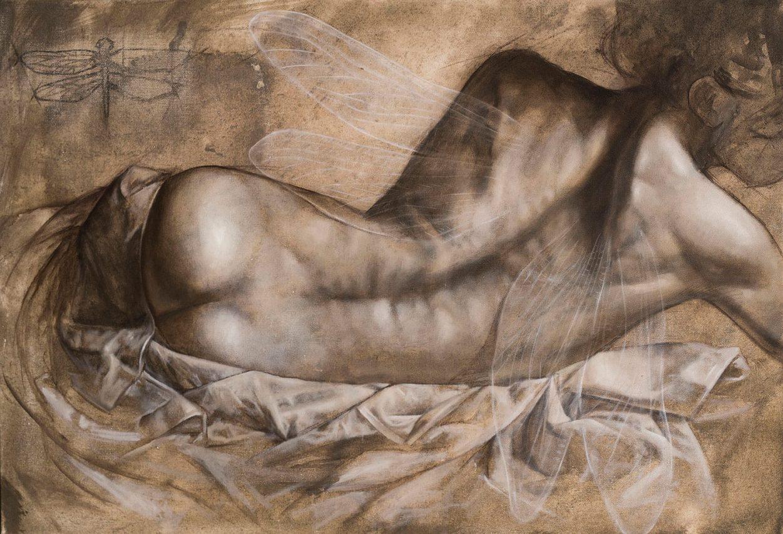 Estudio de Hada en Reposo . óleo sobre lienzo . 60 x 89 cm . 2019