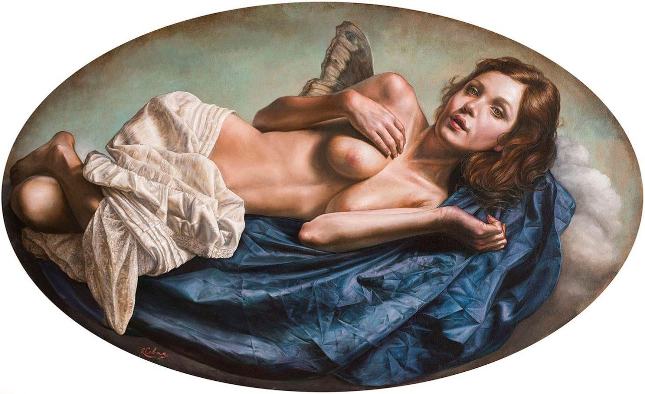 El Retorno de Psique . óleo sobre lienzo . 59 x 99 cm . 2019