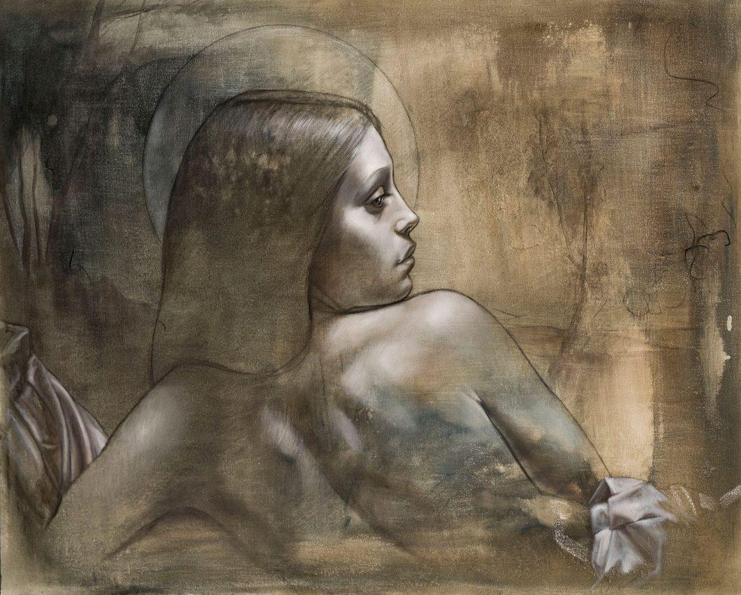 Estudio de El Reposo de Atenea . óleo sobre lienzo . 70 x 90 cm . 2019