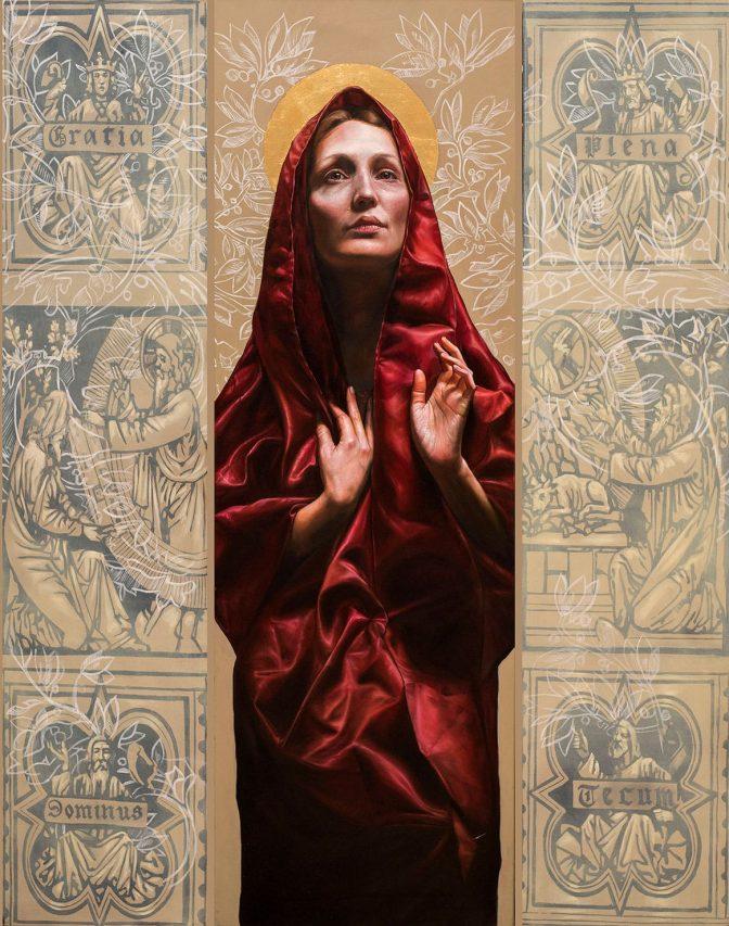 Gratia Plena . óleo sobre lienzo . 150 x 120 cm . 2019