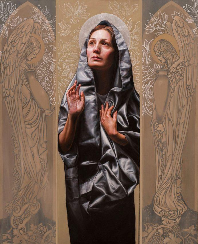 Anunciación . óleo sobre lienzo .145 x 196 cm . 2019