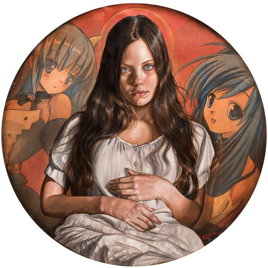 Animé . óleo sobre lienzo . 90 x 90 cm . 2019