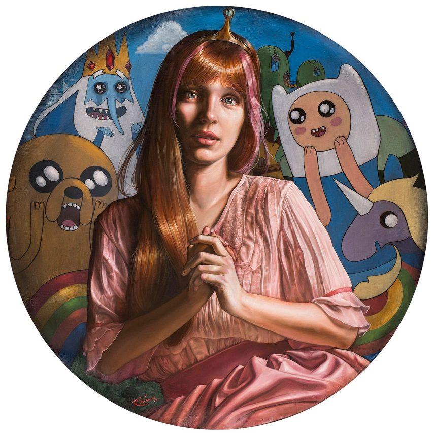 Dulce Princesa . óleo sobre lienzo . 90 x 90 cm . 2018