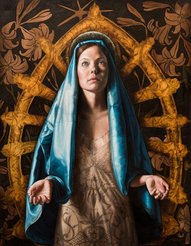 Virgen de Luján . óleo sobre lienzo . 130 x 100 cm . 2018