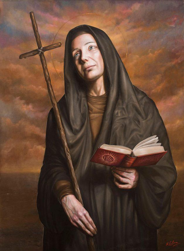 Mama Antula . óleo sobre lienzo . 120 x 90 cm . 2019