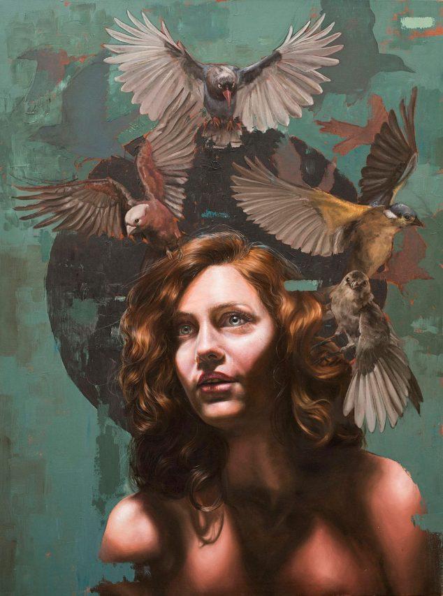 Los Sueños Vuelan . óleo sobre lienzo . 123 x 91 cm . 2019