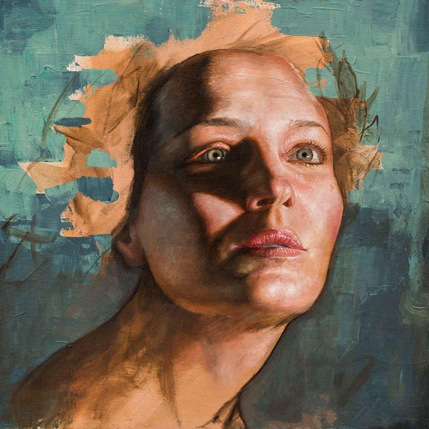 Pienso Hojas II . óleo sobre lienzo . 40 x 40 cm . 2019