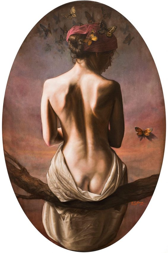 El Sueño de Crisálida I . óleo sobre lienzo . 100 x 66 cm . 2019