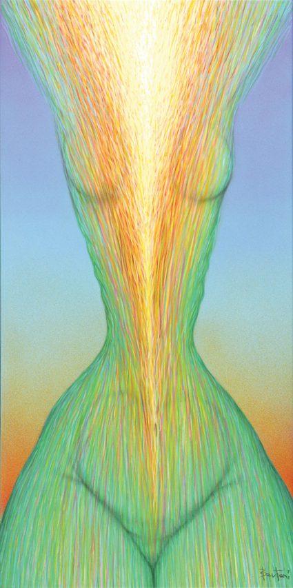 Reverse-Ser . acrílico sobre lienzo . 100 x 50 cm . 2018