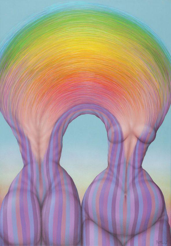 Arco . acrílico sobre lienzo . 100 x 70 cm . 2019