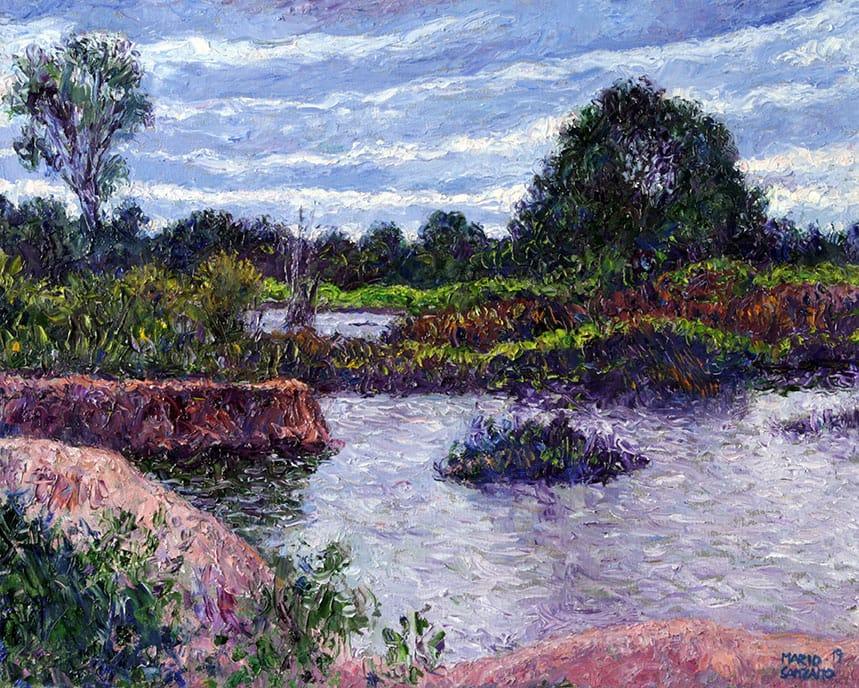 La Brisa en el Agua . óleo sobre lienzo . 40 x 50 cm . 2019