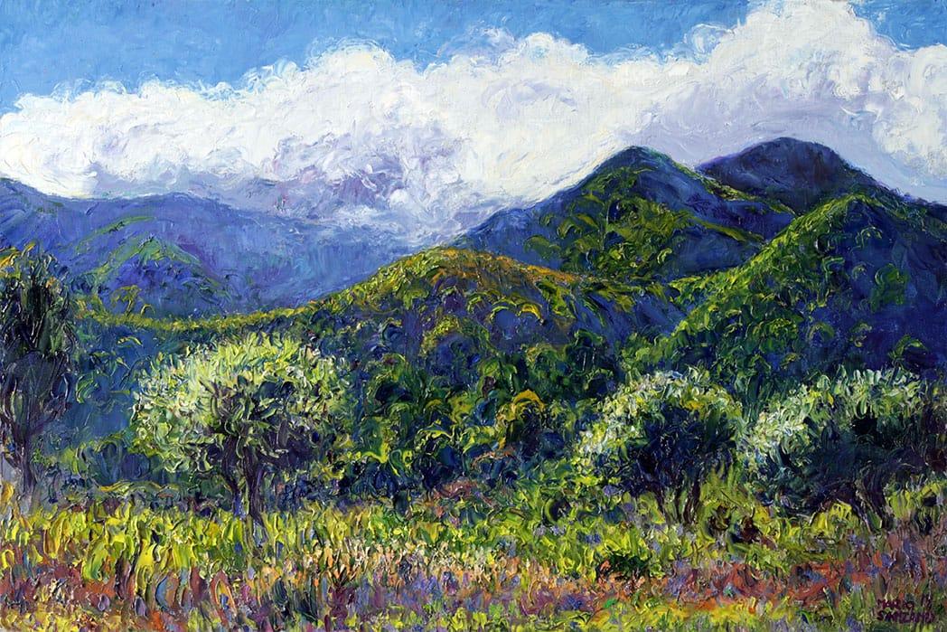 Sobre los Cerros . óleo sobre lienzo . 40 x 60 cm . 2019