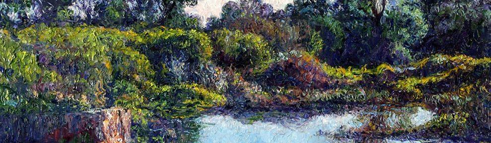 Calma en la Represa . óleo sobre lienzo . 50 x 70 cm . 2019