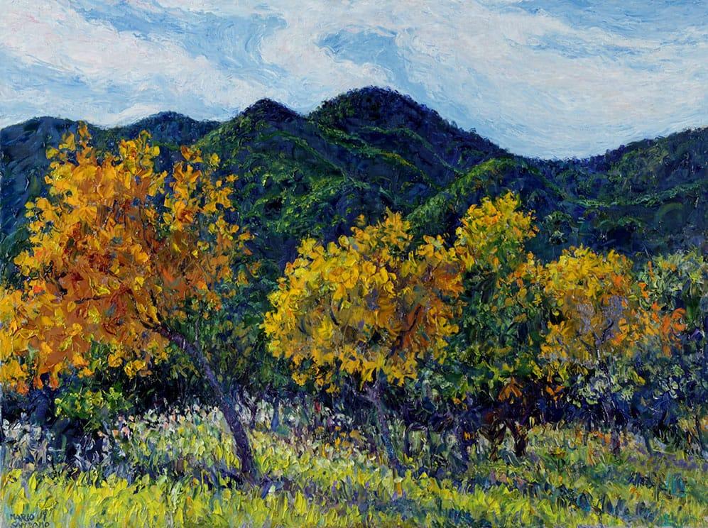 Dorados . óleo sobre lienzo . 60 x 80 cm . 2019