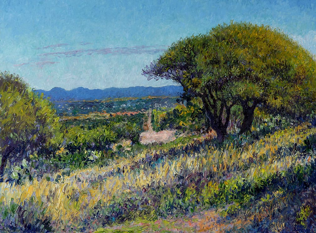 Desde San Vicente . óleo sobre lienzo . 60 x 80 cm . 2019