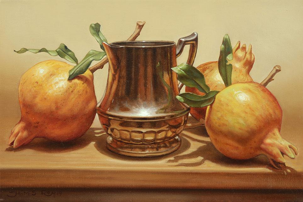 Primeras Granadas . óleo sobre lienzo . 20 x 30 cm . 2019