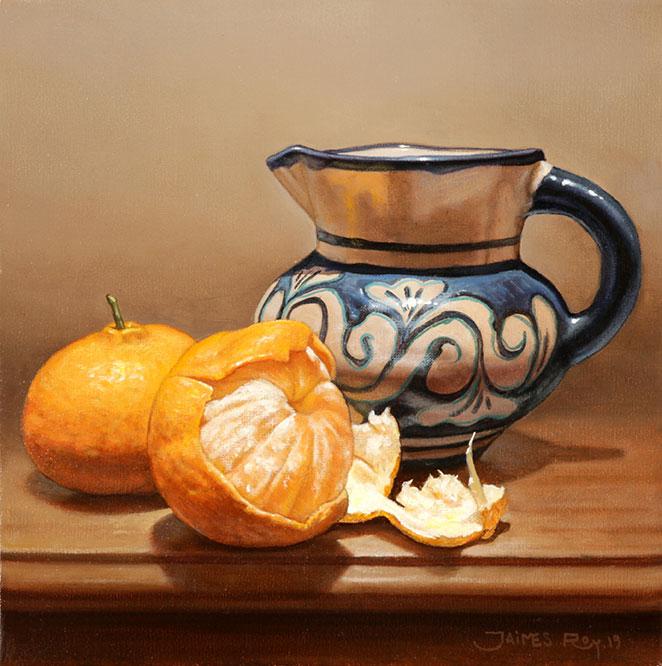 Mandarinas . óleo sobre lienzo . 25 x 25 cm . 2019