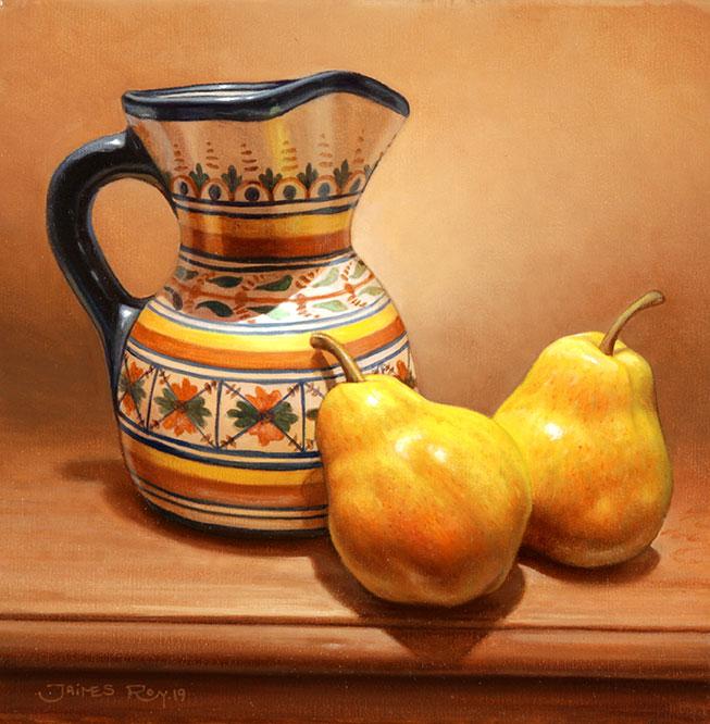 Peras . óleo sobre lienzo . 25 x 25 cm . 2019