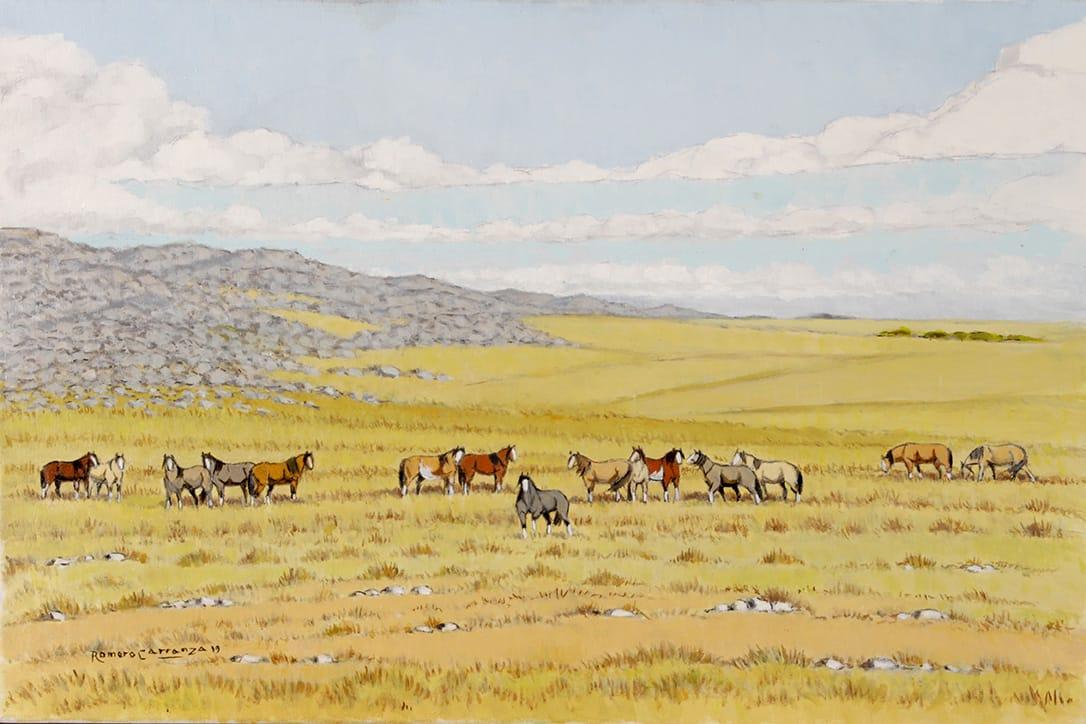 Al Pie de la Sierra . óleo sobre lienzo . 40 x 60 cm . 2019