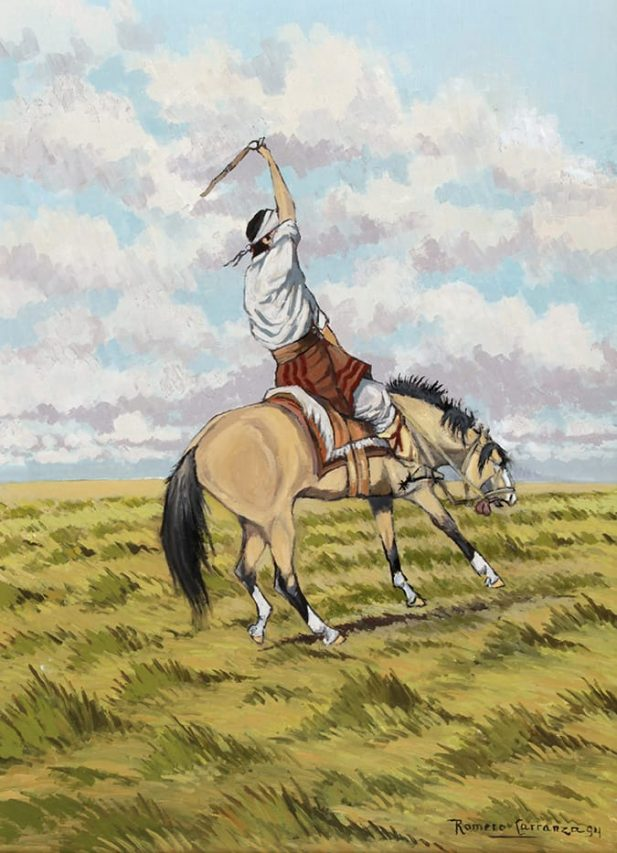 Bellaqueando . óleo sobre lienzo . 66 x 48 cm . 1994