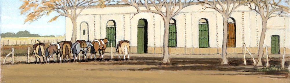 Pulpería San Patricio . óleo sobre lienzo . 30 x 50 cm . 2018