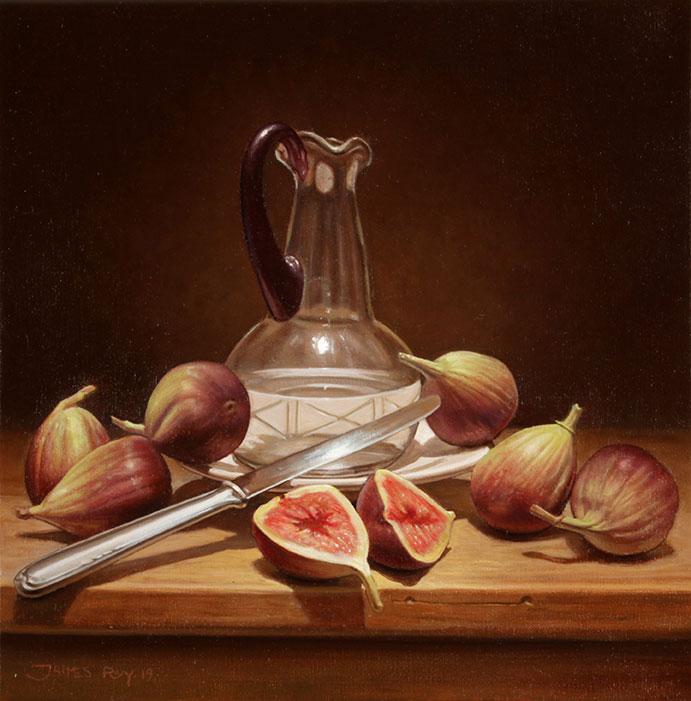 Higos Siete . óleo sobre lienzo . 30 x 30 cm . 2019