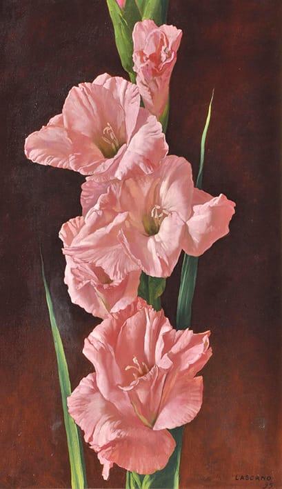 Juan Lascano . Un Alba de Primavera . óleo sobre lienzo . 100 x 60 cm . 1995
