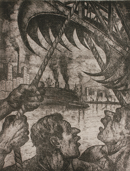 La Grampa . aguafuerte . 67 x 52 cm . 1942