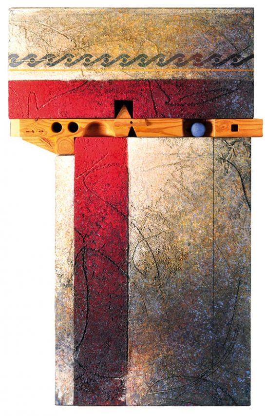 Marcelo Bonevardi . Dintel . técnica mixta . 162 x 100 cm . 1992