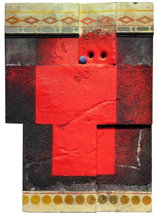 Marcelo Bonevardi . Objeto Rojo . técnica mixta . 78 x 55 cm . 1993