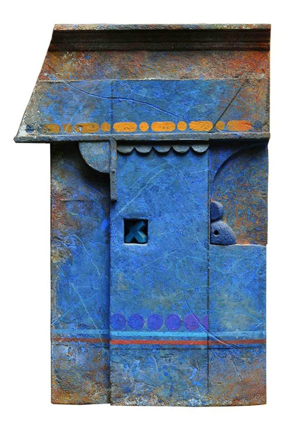 Marcelo Bonevardi . Muro Azul . técnica mixta . 82 x 55 cm . 1993