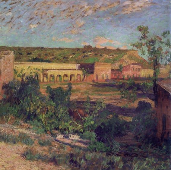 Cesáreo Bernaldo de Quirós . Luz Primera . óleo sobre tabla . 80 x 80 cm . 1943