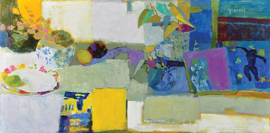 El libro de Sofía . Óleo sobre lienzo . 60 x 120 cm . 2012