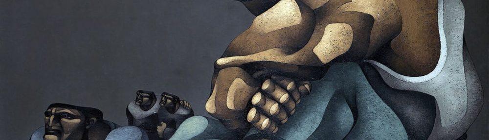 Ricardo Carpani . Desocupados . óleo sobre lienzo . 140 x 200 cm . 1964