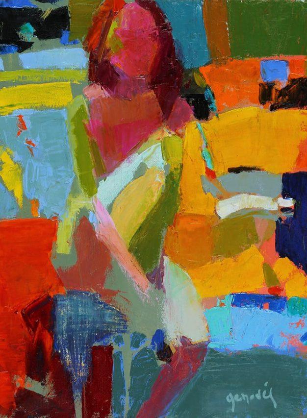 Figura . óleo sobre lienzo . 40 x 30 cm . 2014