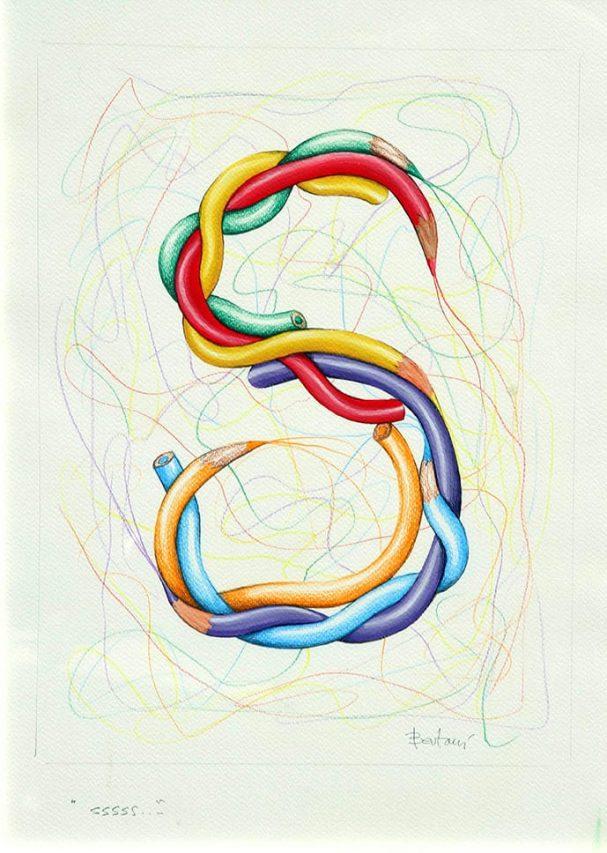 Ernesto Bertani . S . técnica mixta sobre papel . 40 x 30 cm . 2014