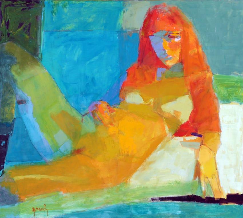 Desnudo . óleo sobre lienzo . 80 x 90 cm . 2015