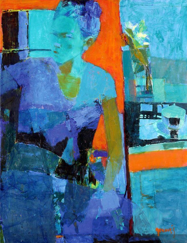 La señorita Li . óleo sobre lienzo . 90 x 70 cm . 2016