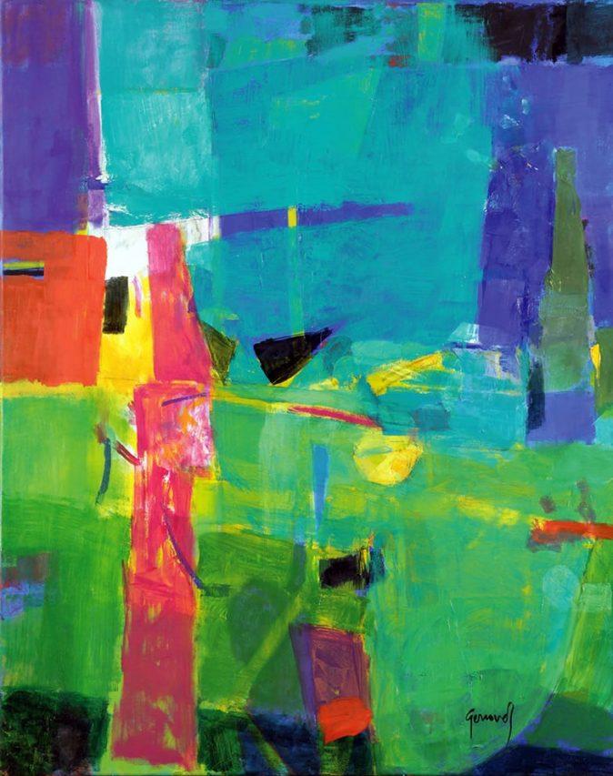 Verdes . óleo sobre lienzo . 100 x 80 cm . 2016