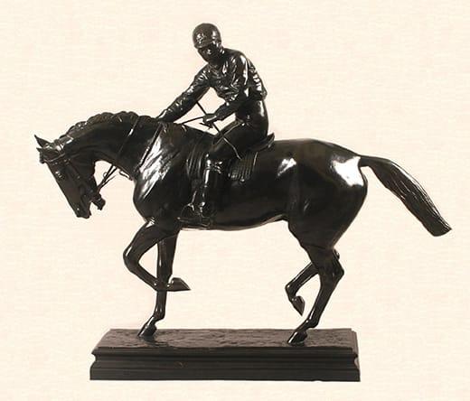 Isidore Bonheur . Le Grand Jockey . bronce a la cera perdida . 92 x 118 x 31 cm . 1890