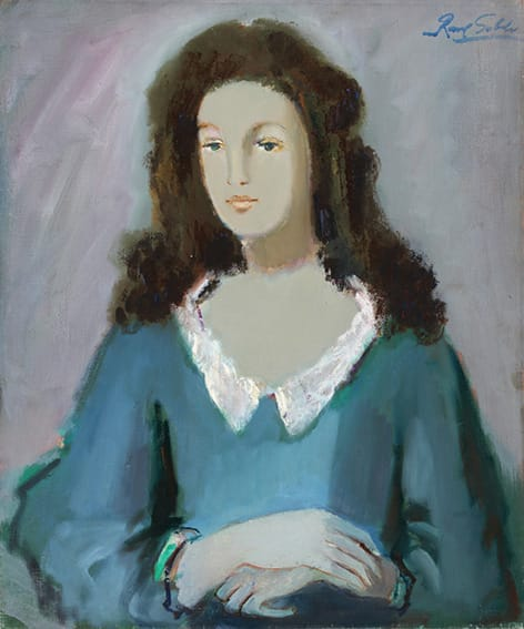 Raúl Soldi . Modelo osando . óleo sobre lienzo . 56 x 45 cm . 1977