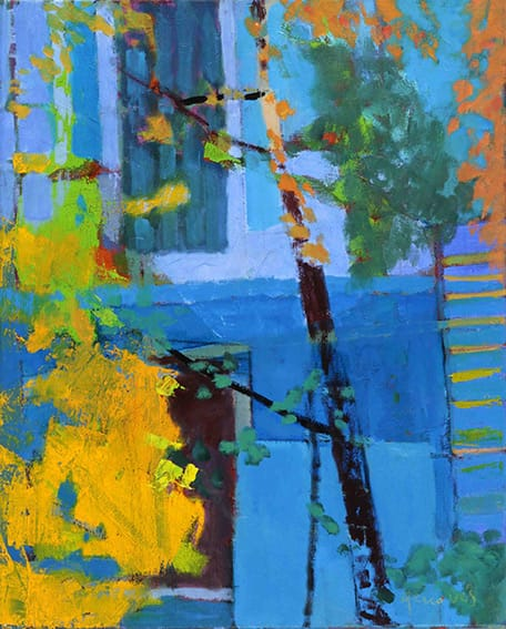 Jardín . óleo sobre lienzo . 50 x 40 cm . 2017