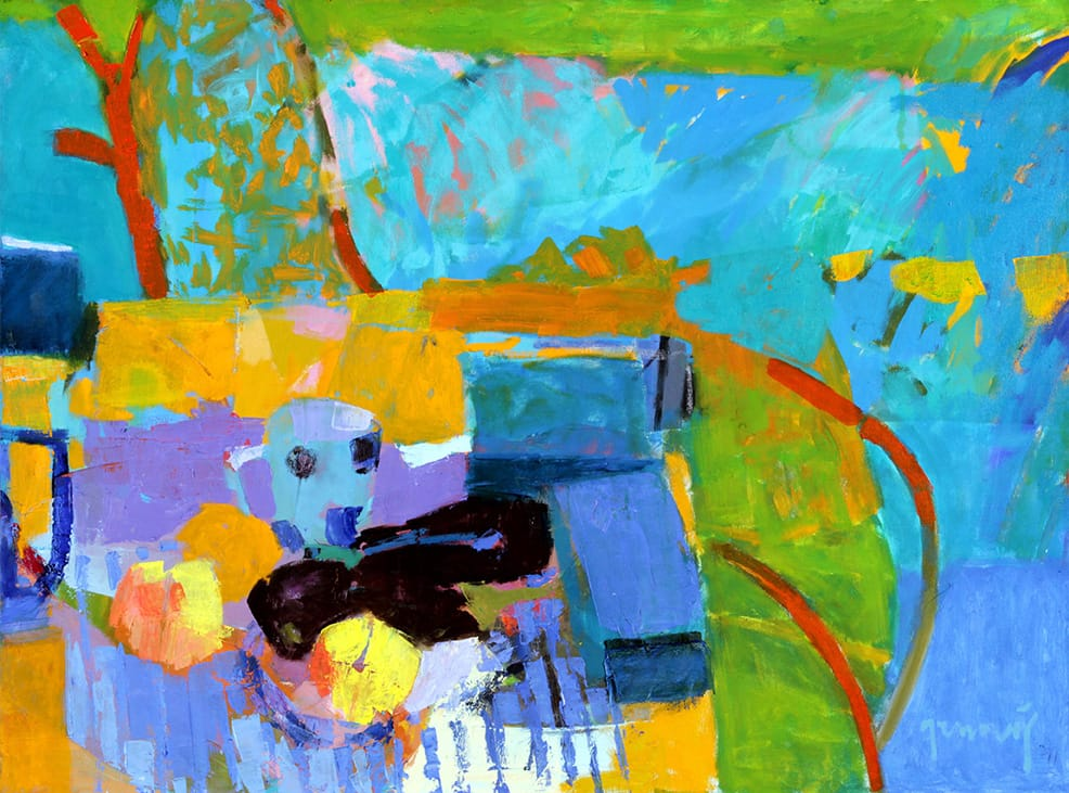 Graciela Genovés . Cosas sobre la Mesa . óleo sobre lienzo . 60 x 80 cm . 2018