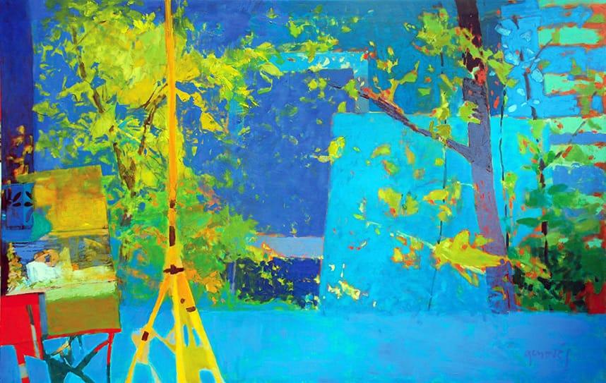 Ventanal . Óleo sobre lienzo . 110 x 170 cm . 2018